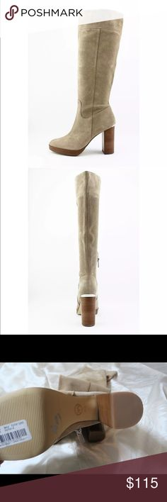 7dfb15f3dac Michael Kors Boots Beige Suede Leather Knee High Brand new!