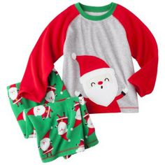 Boys Red Flannel Pajamas with Christmas Stocking by ChildSewSweet ...