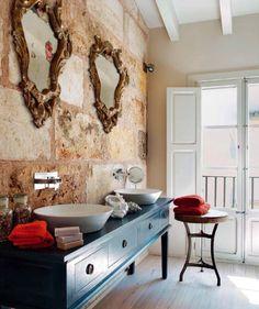 baño revestimiento piedra decoralinks