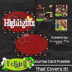 FREE That Cover it ! Journal Card freebie