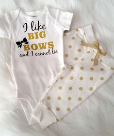 I Like Big Bows & I Can Not Lie Infant Gold Glitter Onesie – Ruffles & Bowties Bowtique