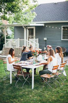 Casual backyard dining