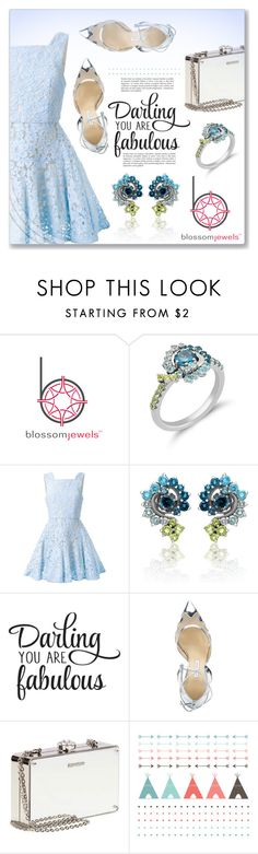 """Blossomjewels.com Sponsored Contest"" by dressedbyrose ❤ liked on Polyvore featuring Alex Perry, Bionda Castana, Miu Miu, polyvoreeditorial and Blossomjewels"
