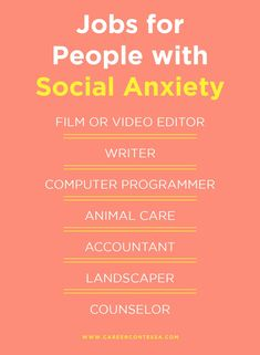 Social anxiety can feel like it completely stops you in your tracks at work. Here are jobs that work better for those with social anxiety. Job Career, Career Advice, Social Anxiety Disorder, Phone Interviews, Job Interview Tips, Career Inspiration, List Of Jobs, Best Careers, Secret To Success