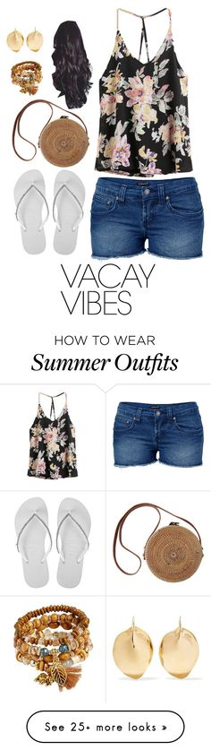 """""""Vacation Outfit"""" by brightheart593 on Polyvore featuring Venus, Havaianas, Ariana Boussard-Reifel, BeachPlease and vacayoutfit"""