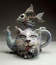 Hall Pottery, Pottery Art, Pottery Sculpture, Sculpture Art, Face Jugs, Teapots Unique, Ceramic Clay, Ceramic Teapots, Art And Architecture