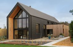 Maison individuelle en murs en bois massif