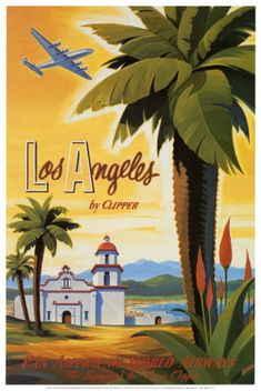 Los Angeles #vintage #travel #poster #USA