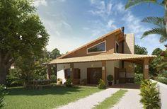 Navegue por fotos de Casas rústicas: RESIDÊNCIA LITORAL - PINHAL / RS. Veja fotos com as melhores ideias e inspirações para criar uma casa perfeita.