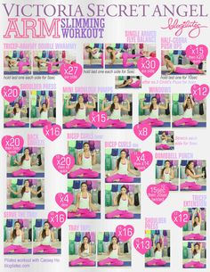 Blogilate: Victoria Secret Arm Slimming Workout. I know I will be working on my arms overtime for summer!