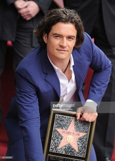 Actor Orlando Bloom is honored with a Star on The Hollywood Walk of Fame on April 2, 2014 in Hollywood, California.