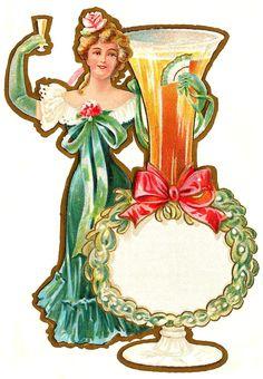 Glanzbilder - Victorian Die Cut - Victorian Scrap - Tube Victorienne - Glansbilleder - Plaatjes : Tischkarten - Einladungen etc. - table cards, invitations ... - cartes de table, invitations...
