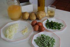 Patatas con huevos en salsa verde - Cocinera y Madre Salsa Verde, Anna, Rice, Eggs, Breakfast, Model House, Flower, Puff Pastry Recipes, Parsley