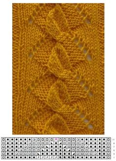 This Pin was discovered by Ann Crochet Mittens Pattern, Lace Knitting Stitches, Lace Knitting Patterns, Knitting Charts, Crochet Motif, Knitting Designs, Knitting Projects, Stitch Patterns, Knit Crochet