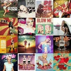 P!nk album covers