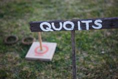 quoits lawn games for outdoor farm wedding reception