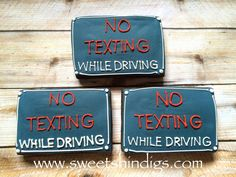 Cookies for 16th birthday Road Signs or New Driver Cookies Sweet Shindigs