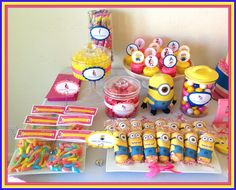 Treats at a Despicable Me Baby Shower #babyshower #despicableme