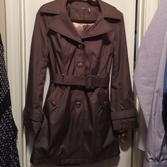 Calvin Klein brown trench coat Never worn and in excellent condition Calvin Klein Jackets & Coats Trench Coats