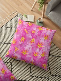 Pink Rain lily floral pattern. visit my shop for more products Rain Lily, Floor Pillows, I Shop, Flooring, Floral, Pattern, Pink, Shopping, Products