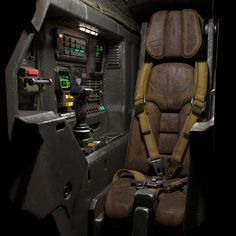 High-quality model of the science fiction cockpit, ready for close-up and HD renders. Spaceship Interior, Spaceship Design, Sci Fi Rpg, Armas Ninja, Starship Concept, Sci Fi Ships, Star Wars, Environment Concept Art, Science Fiction Art