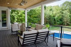 Choose the railing for your home. Trex Signature Rod Rail means a sleek and strong look.  📸@renaissance_roofing_exteriors  #happyhome #trex #trexdecking #decking #deck #trexdeck #aluminum #metal #metailrailing #railings #summerhome Deck Railing Kits, Metal Deck Railing, Deck Railing Systems, Steel Railing, Trex Composite Decking, Outdoor Furniture Sets, Outdoor Decor, Aluminum Metal, Deck Design