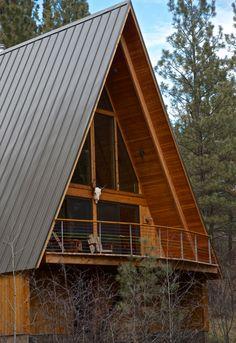 Hilton Construction :: retro a-frame cabin