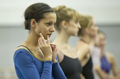 Francesca Hayward and dancers of The Royal Ballet in rehearsal for The Invitation, The Royal Ballet © 2016 ROH. Photograph by Andrej Uspenski