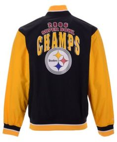 Mitchell   Ness Men s Pittsburgh Steelers Team History Warm Up Jacket 2 -  Black M ac8225d9e
