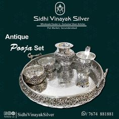 Silver Jewellery Indian, Indian Wedding Jewelry, Gold Jewellery Design, Silver Jewelry, Silver Pooja Items, Gold Mangalsutra Designs, Silver Furniture, Silver Ornaments, Silver Gifts