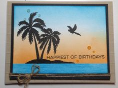 Style Tropical, May Arts, Sea Theme, High Tide, Stamping Up Cards, Paper Pumpkin, Hero Arts, Card Kit, Card Stock
