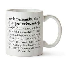 """Tasse """"Seelenverwandte"""" geschenkefinden.jetzt - Ausgesuchte Geschenke für Dich, mich, Sie und Ihn."""