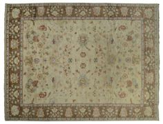 ASYA USHAK / TURKEY Item Number:24690 Width: 12 ft. 4 in. Length: 15 ft. 6 in. Field: ALL OVER PATTERN Field Color: BEIGE Border Color: BRO... (828)-687-1968 www.togarrugs.com