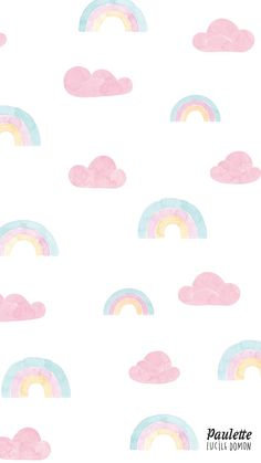 awesome Rainbow and clouds pastel iPhone wallpaper. Wallpaper Iphone Pastell, Pastel Iphone Wallpaper, Cloud Wallpaper, Rainbow Wallpaper, Iphone Background Wallpaper, Kawaii Wallpaper, Tumblr Wallpaper, Aesthetic Iphone Wallpaper, Disney Wallpaper