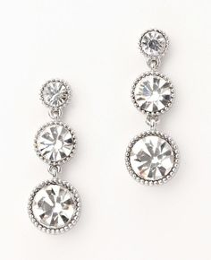 Ann Taylor - AT Jewelry - Linear Crystal Drop Earrings... Perfect to add more glam sparkle!