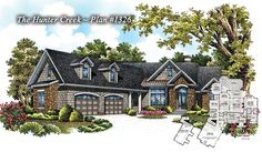 Small Craftsman Plan - The Hunter Creek no. 1326 is NOW AVAILABLE! http://www.dongardner.com/plan_details.aspx?pid=4525 - Three bedrooms, two baths in 1955 sq. ft, with a large kitchen and plenty of storage. #Home #Design #Small #Craftsman