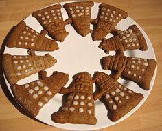Dalek Gingerbread Men.