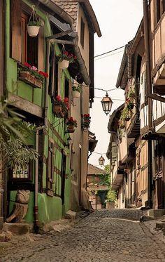 Medieval Riquewihr, Alsace, France
