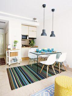 Los muebles, telas, revestimientos... Todo en este estudio está pensado para…