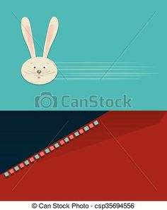 Vector - Easter rabbit card - stock illustration, royalty free illustrations, stock clip art icon, stock clipart icons, logo, line art, EPS picture, pictures, graphic, graphics, drawing, drawings, vector image, artwork, EPS vector art