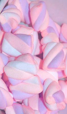 Imagen de pink, sweet, and candy. Food Wallpaper, Pastel Wallpaper, Iphone Wallpaper, Pretty Pastel, Pastel Pink, Aesthetic Backgrounds, Aesthetic Wallpapers, Bonbons Pastel, Marshmello Wallpapers