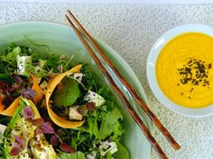 Get Superfoods Salad with Carrot-Doenjang Dressing Recipe from Cooking Channel
