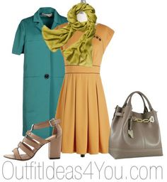 What To Wear With A Yellow Dress For deep golden yellows, try a teal jacket with a bright olive green scarf.  See 3 more outfit ideas for a yellow dress.