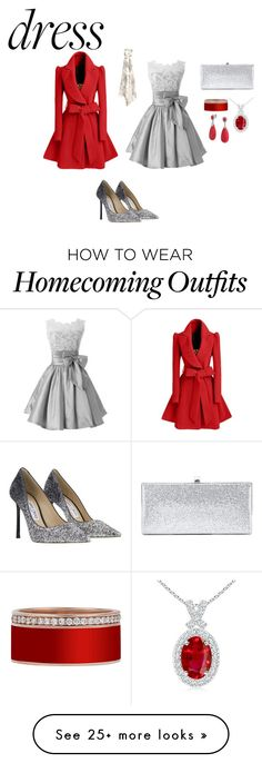 """""""holiday cheer"""" by crystallewis-iii on Polyvore featuring WithChic, Jimmy Choo and Bling Jewelry"""