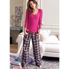 The Dreamer Henley Pajama - love comfy pjs! Onesie Pajamas, Cute Pajamas, Silk Pajamas, Pajamas Women, Comfy Pajamas, Flannel Pajamas, Lazy Day Outfits, Cute Outfits, Lingerie Sleepwear