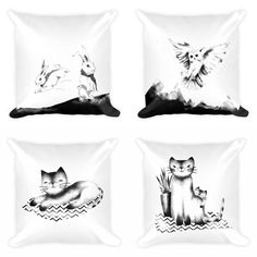 I'm busy uploading these to my new store. (Facebook store link in bio) These will also be available as #prints and #phonecases 😊 #cats #cushions #pillows