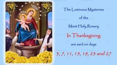 The Annual Worldwide 54 Day Rosary Novena in Reparation for the sins of the world and the conversion of sinners. The Glorious Mysteries In Petition are said . Praying The Rosary, Holy Rosary, Rosary Novena, St John The Evangelist, Our Lady Of Sorrows, Blessed Mother Mary, Power Of Prayer, Pro Life, Catholic