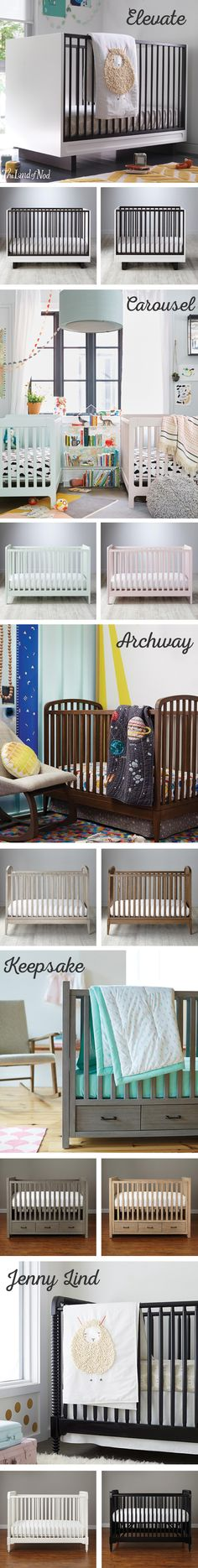 Expecting a new bundle of joy? Then we bet you're also looking for the perfect baby crib for the nursery. The Land of Nod's exclusive collection of nursery furniture is constructed from quality wood materials in modern and classic styles. You can choose from a variety of stylish colors and finishes, too. And, if you're short on space, our mini cribs and built-in storage compartments make a welcome addition. Just don't forget to finish the nursery with super cozy crib bedding.