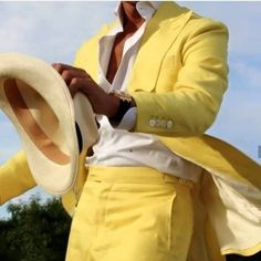 Only Fashion, Mens Fashion, Bespoke, Yellow Suit, Color Yellow, Yellow Blazer, Neon Yellow, Blazer Outfits Men, Blue Friday