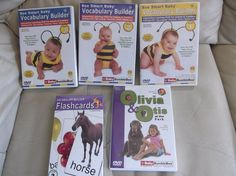 Baby Bumble Bee DVD's Volumes 1,2,& 3 plus Vocabulary builder Flashcards